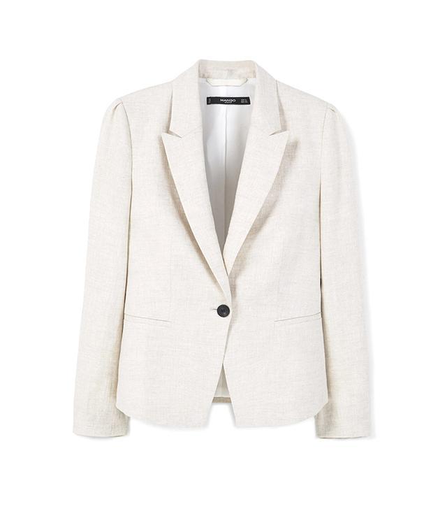 Mango Structured Linen Jacket