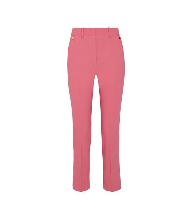 Cropped Cotton-blend Slim-leg Pants