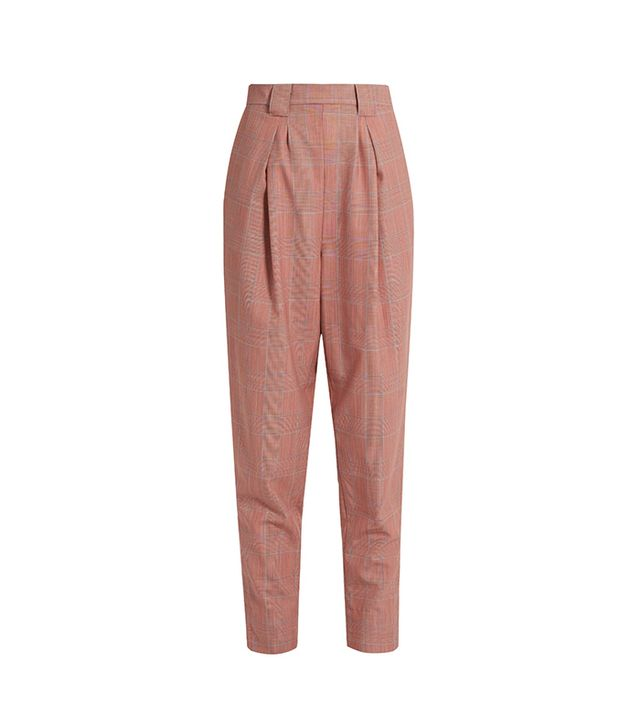 James High-rise Tapered-leg Wool-plaid Trousers