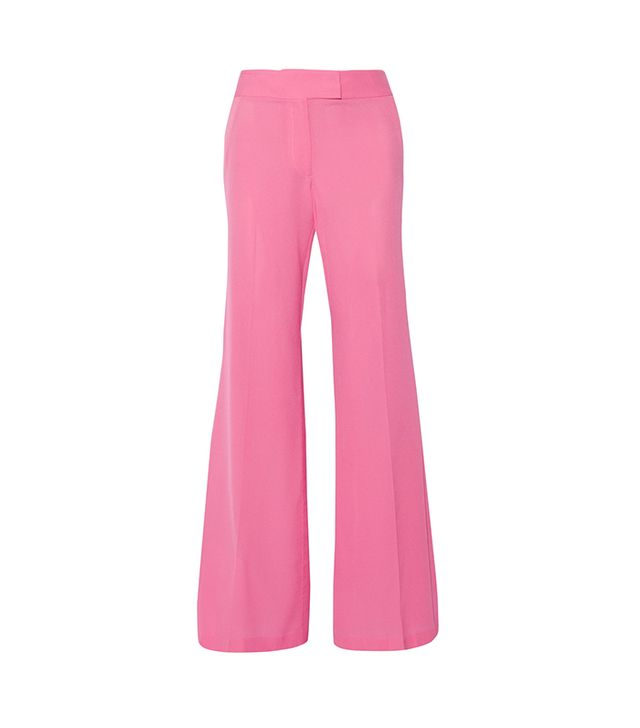 Presley Silk Crepe de Chine Wide-leg Pants