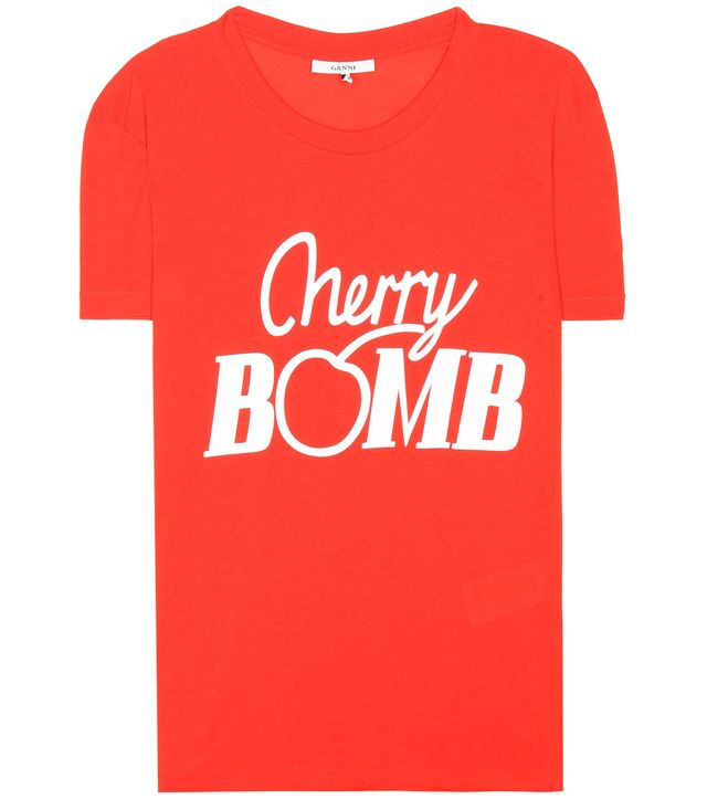 cherry bomb graphic t-shirt - Ganni Linfeld T-shirt
