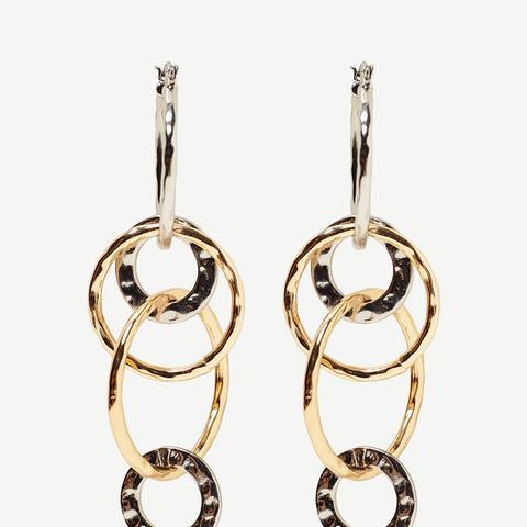 Contrasting Hoop Earrings