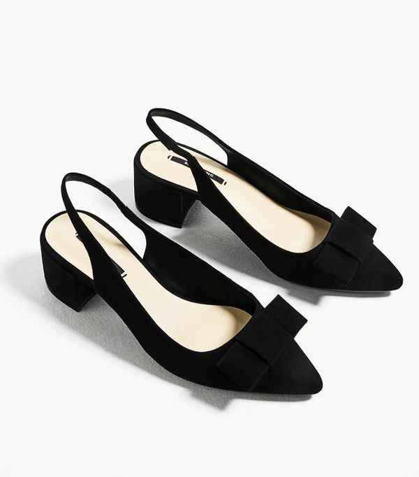 Best Zara buys: bow backless shoes