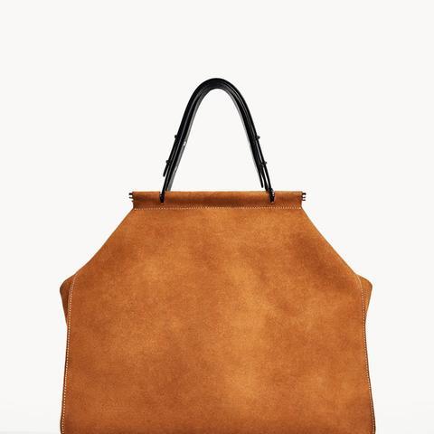 Split Suede Tote Bag