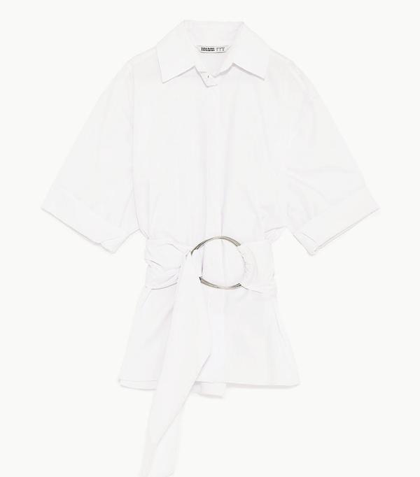 Best Zara buys: White poplin shirt