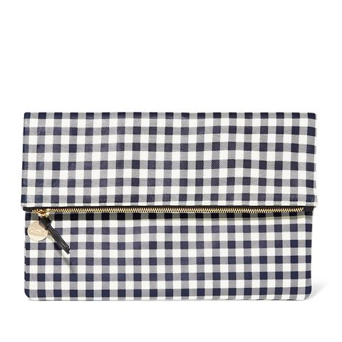 Supreme Gingham Leather Clutch