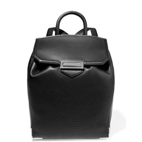 Prisma Skeletal Textured-Leather Backpack