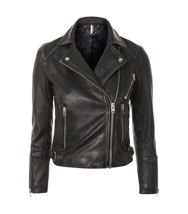 Rei Kawakubo style: Black biker jacket