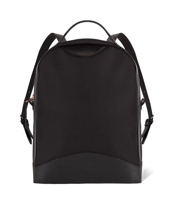 Rei Kawakubo style: Black backpack