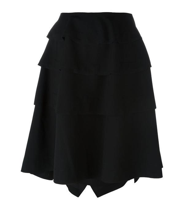 Rei Kawakubo style: Black ruffle skirt