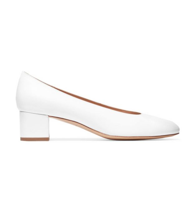 Lulama Wolf style: Mansur Gavriel white block heels
