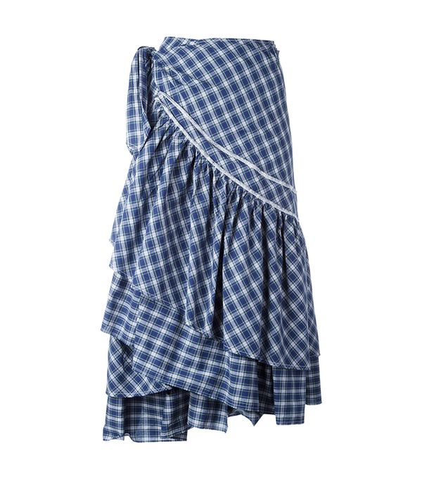 Circus Hotel Check Ruffled Skirt