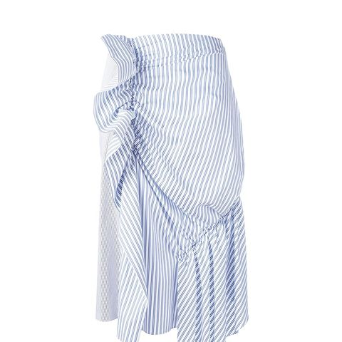 Gathered Striped Skirt