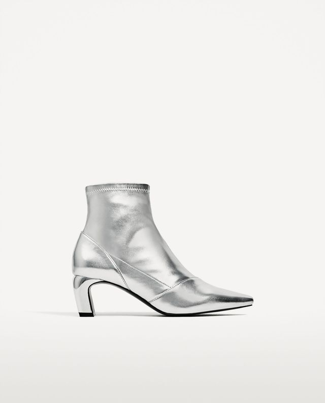 Zara Silver Boots
