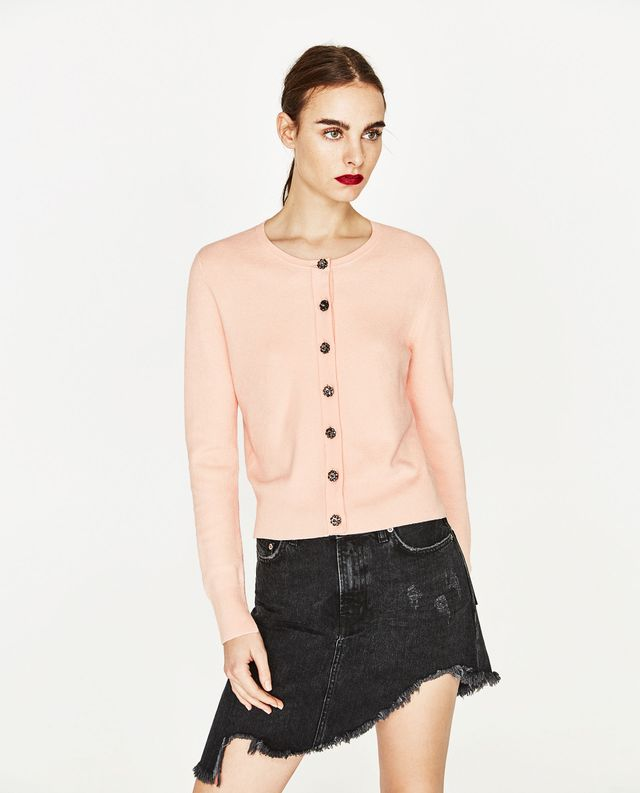 Zara Gem Button Cardigan