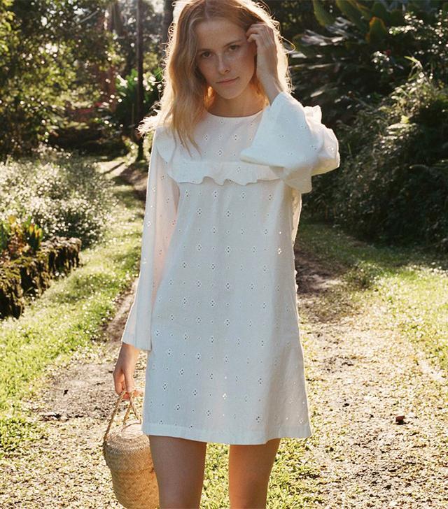 best white summer dress- doen bronte dress