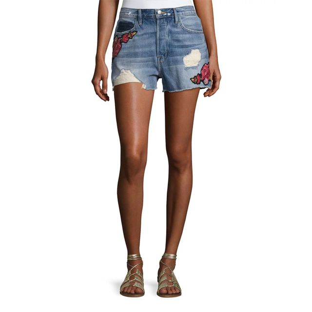 FRAME Le Original Patch Shorts, Rose Petal, #OnlyatNM