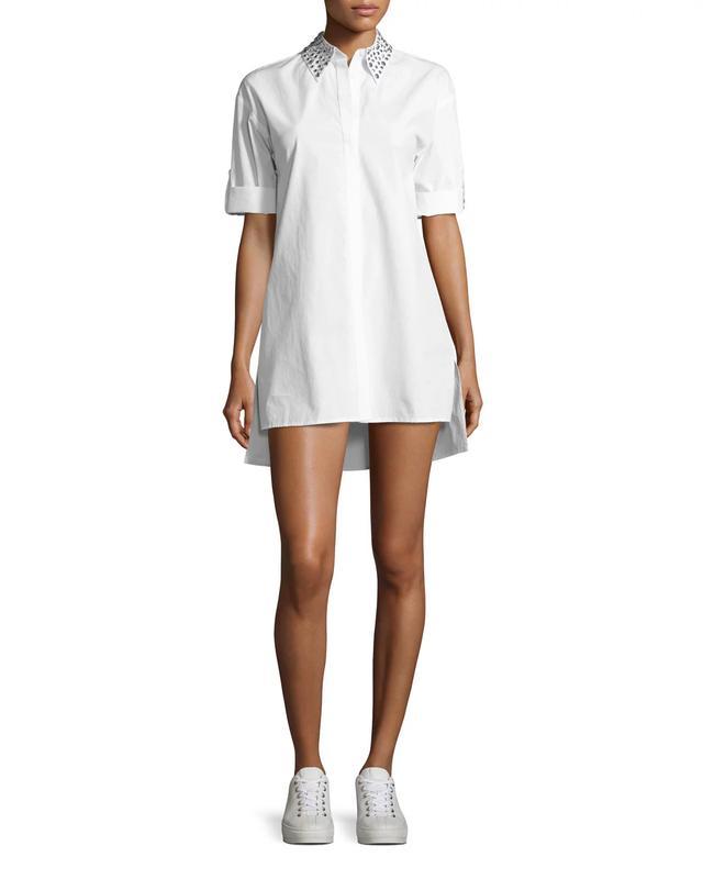 Alice + Olivia Camron Embellished-Collar Tunic Shirtdress, #OnlyatNM