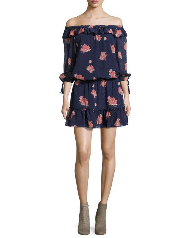 Joie Luvenia Floral-Print Silk Dress, #OnlyatNM