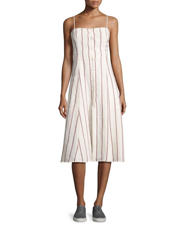 Theory Kayleigh Wide-Stripe Linen Sundress, #OnlyatNM