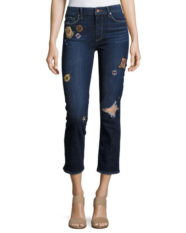 Paige Jacqueline Patch Straight Leg Jeans, #OnlyatNM