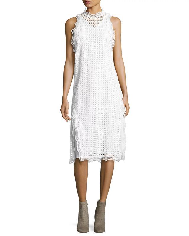 IRO Vicki Sleeveless Eyelet Midi Dress, #OnlyatNM
