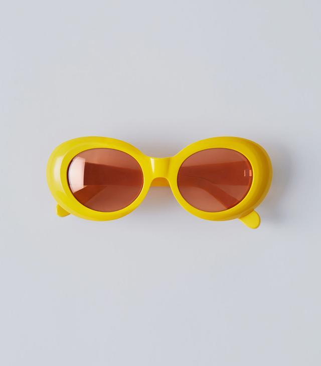acne studios yellow sunglasses