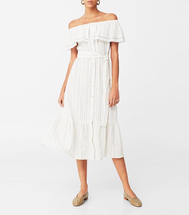 mango off the shoulder dress