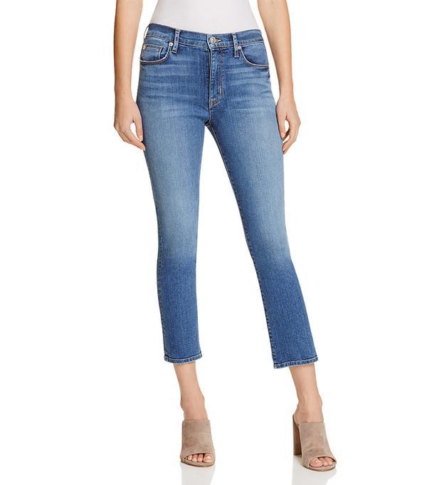Hudson Harper High Rise Baby Kick Flare Jeans in Stamina