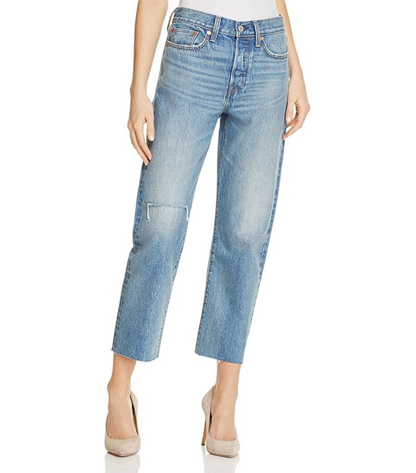 Levi's High Rise Wedgie Straight Cut-Off Jeans in Tent Lyfe