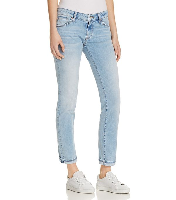 Mavi Emma Slim Boyfriend Jeans in Light Blue Vintage