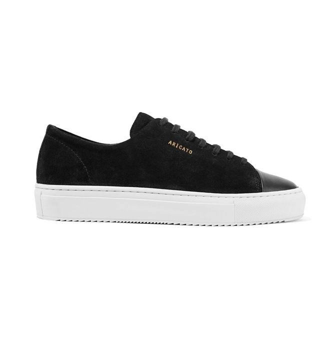Axel Arigato Leather-Trimmed Suede Sneakers