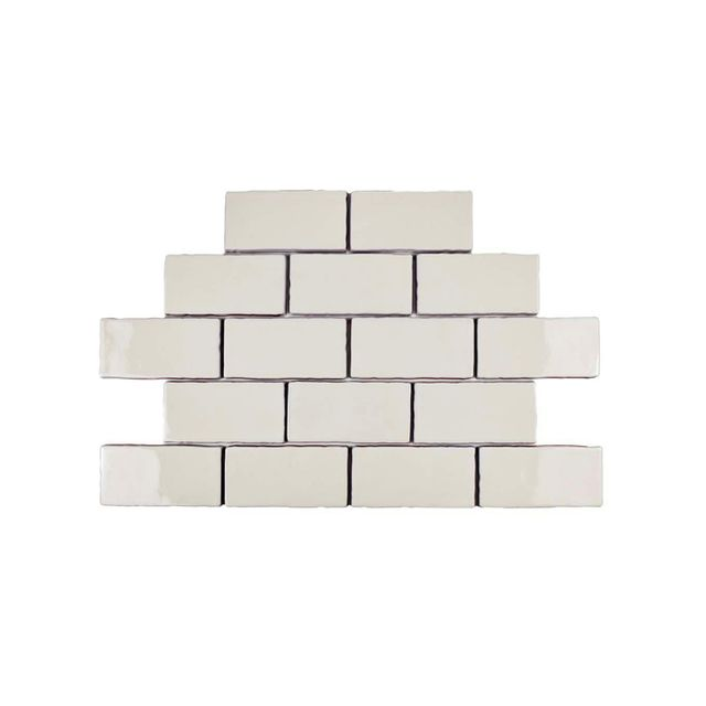 Merola Tile Antic Craquelle White Ceramic Wall Tile
