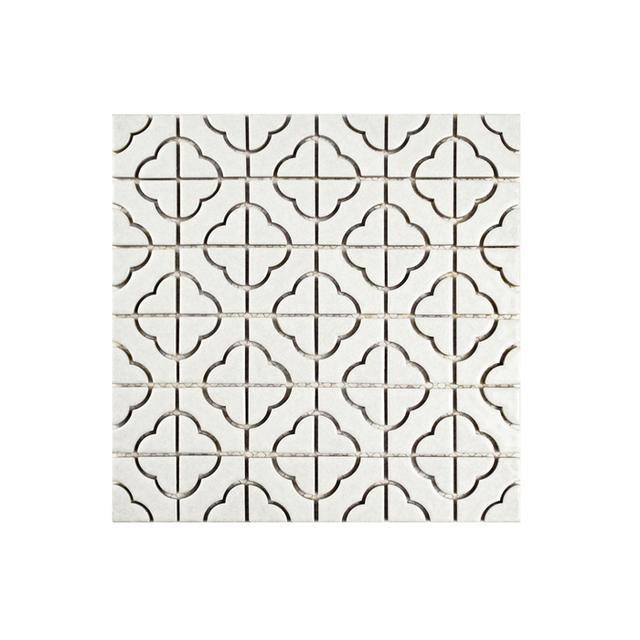 Merola Tile Palace White Porcelain Mosaic Tile