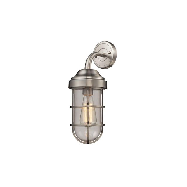 Seaport Light Satin Nickel Sconce