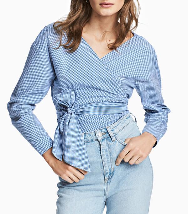 best wrap blouse H&M
