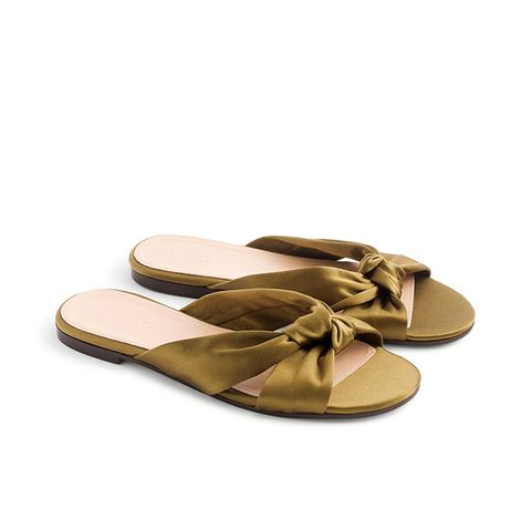 Satin Knotted Sandals