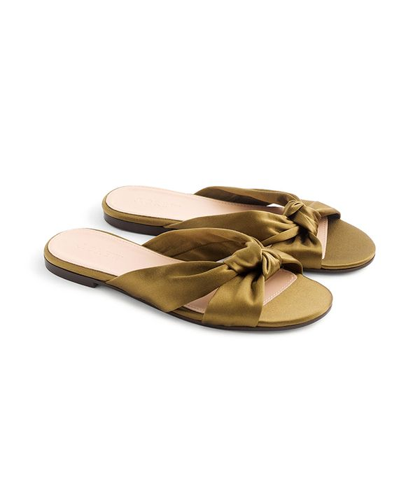 j.crew satin knotted sandals