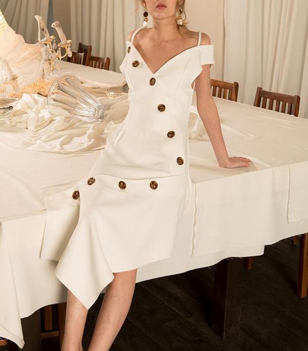 best white dress loeil