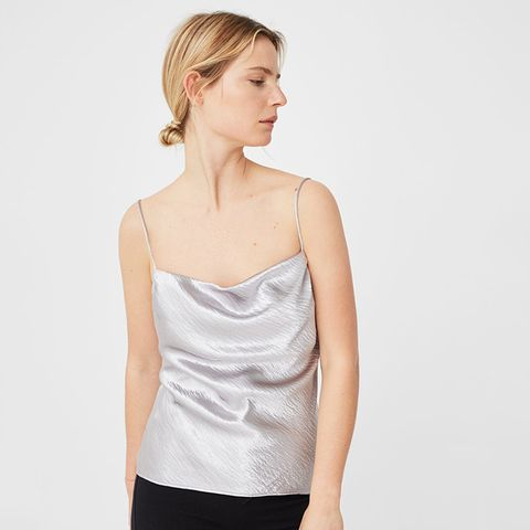 Metallic Texture Top