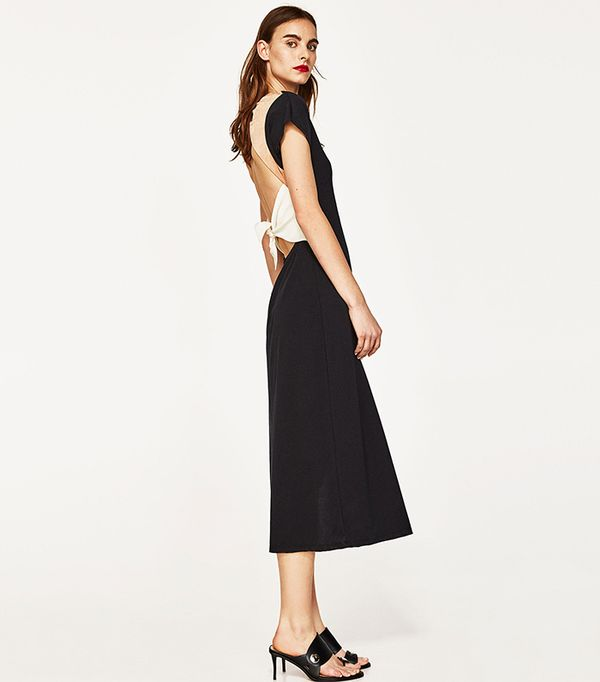 best black dress zara