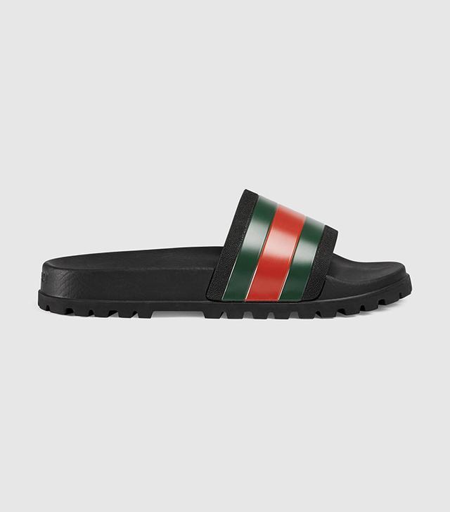 celebrity sandals - Gucci Web Slide Sandal