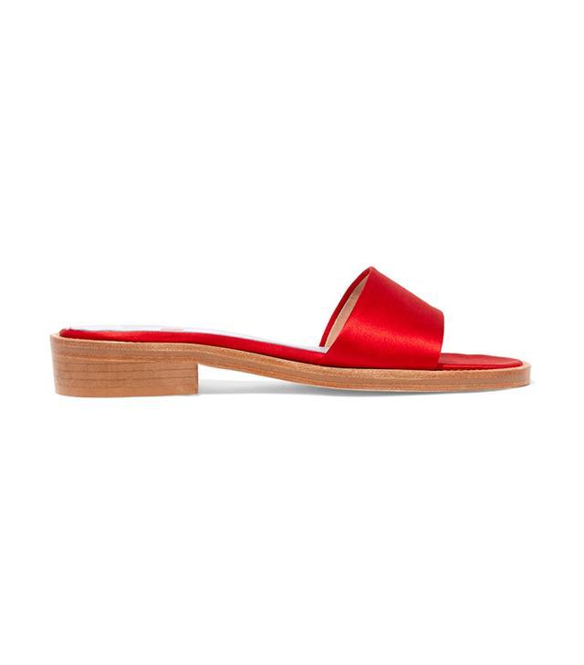 celebrity sandals - MR by Man Repeller Satin Slide