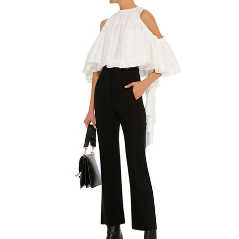 Baby Cropped Ruffle Top