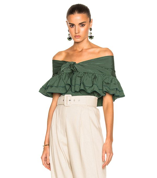 spring tops - Isa Arfen Ruffle Knot Top