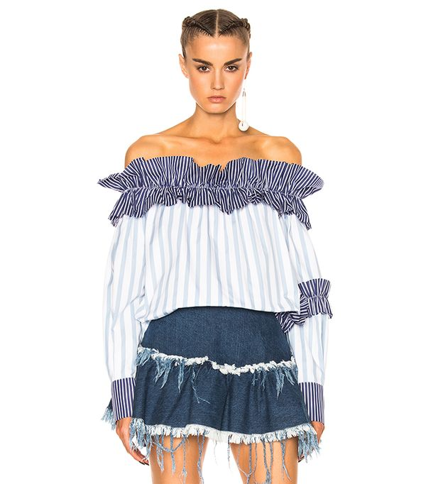 top styles - MSGM Off the Shoulder Top