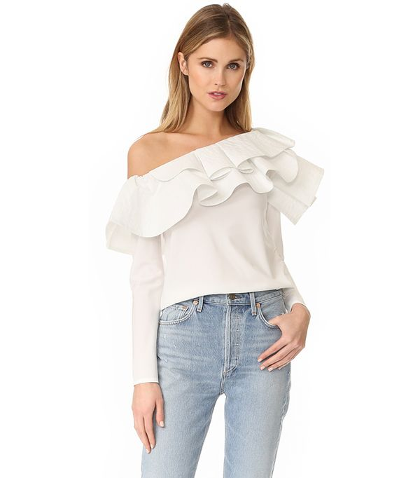 top styles - Stylekeepers Ruffle One Shoulder Top