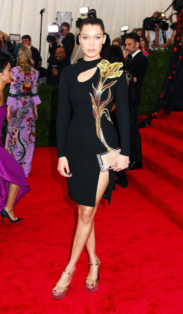 Met Gala high street dresses: Bella Hadid in Topshop