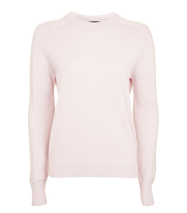 How to dress like a Scandinavian: Topshop pink jumper
