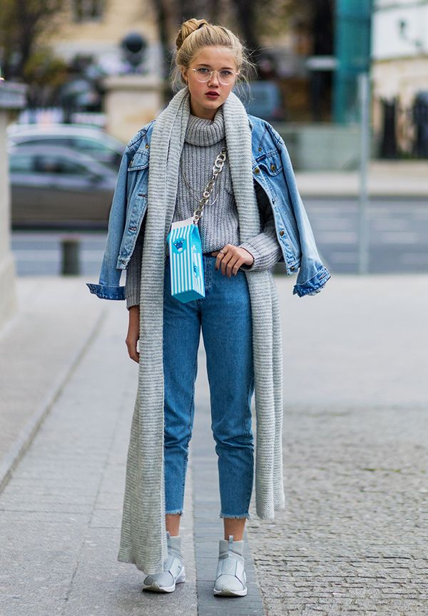 Ways To Layer A Denim Jacket For Winter Her Campus
